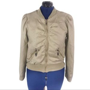 Ashley by 26 International XL gold bomber jacket